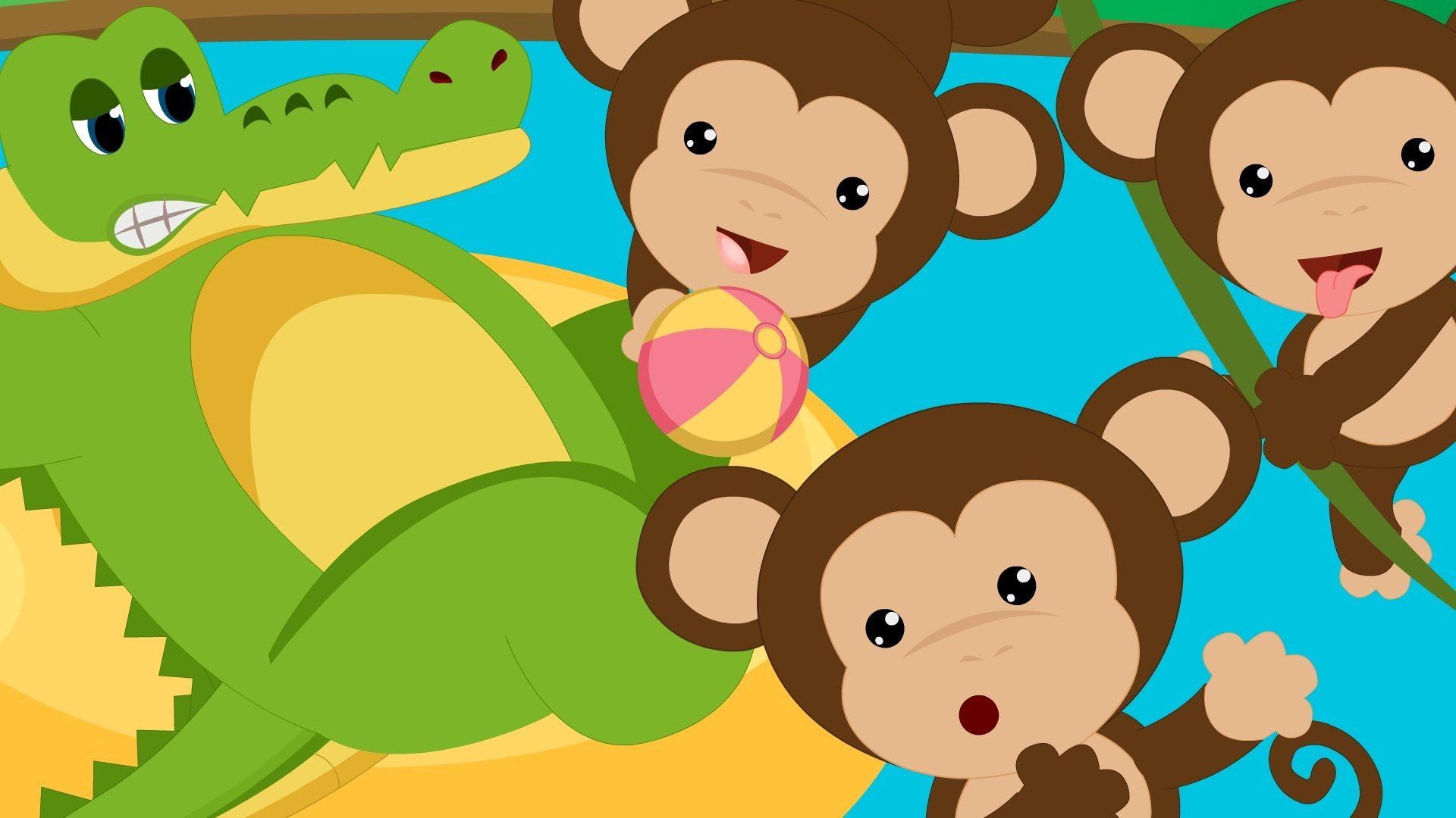 Five Little Monkeys Swinging In A Tree Monkeys Swinging In
