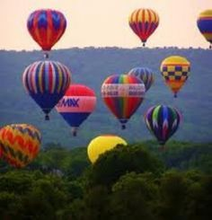 Quechee Balloon Festival, Vermont. I loved watching the balloons rise over the Vermont hills right from the deck of my home!