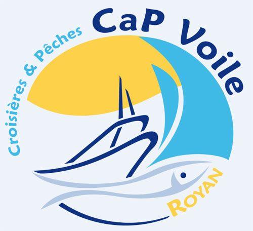 Creation Du Logo De La Societe Cap Voile Croisieres A La Mer Et Peche En Mer Royan Royan Croisiere Peche En Mer