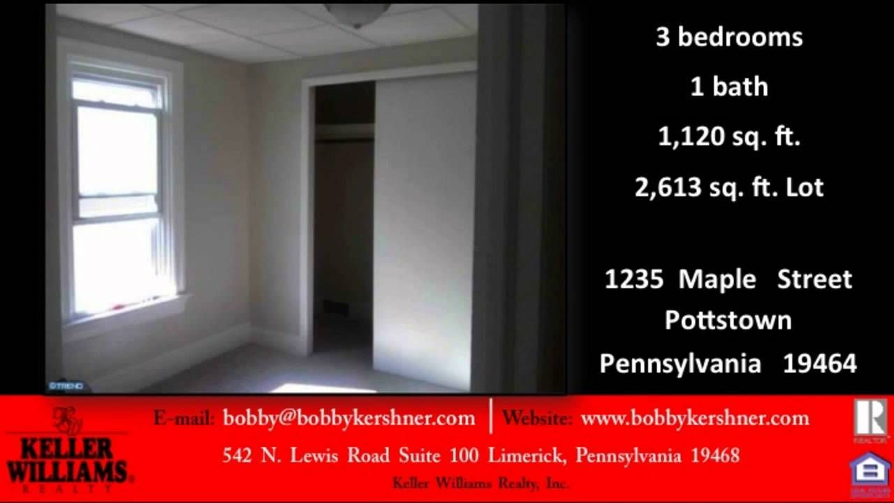 3 bed 1 bath two story house for sale in pottstown pa