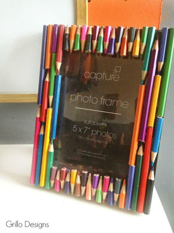 DIY Decorated Pencil Frame   Pinterest   Ideas creativas, Lápiz y Cartón