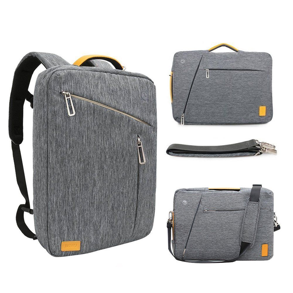 Amazon Com 17 3 18 4 Inch Laptop Convertible Backpack Wiwu Multi Functional Travel Rucksack Convertible Laptop Backpack Genuine Leather Bags Laptop Backpack
