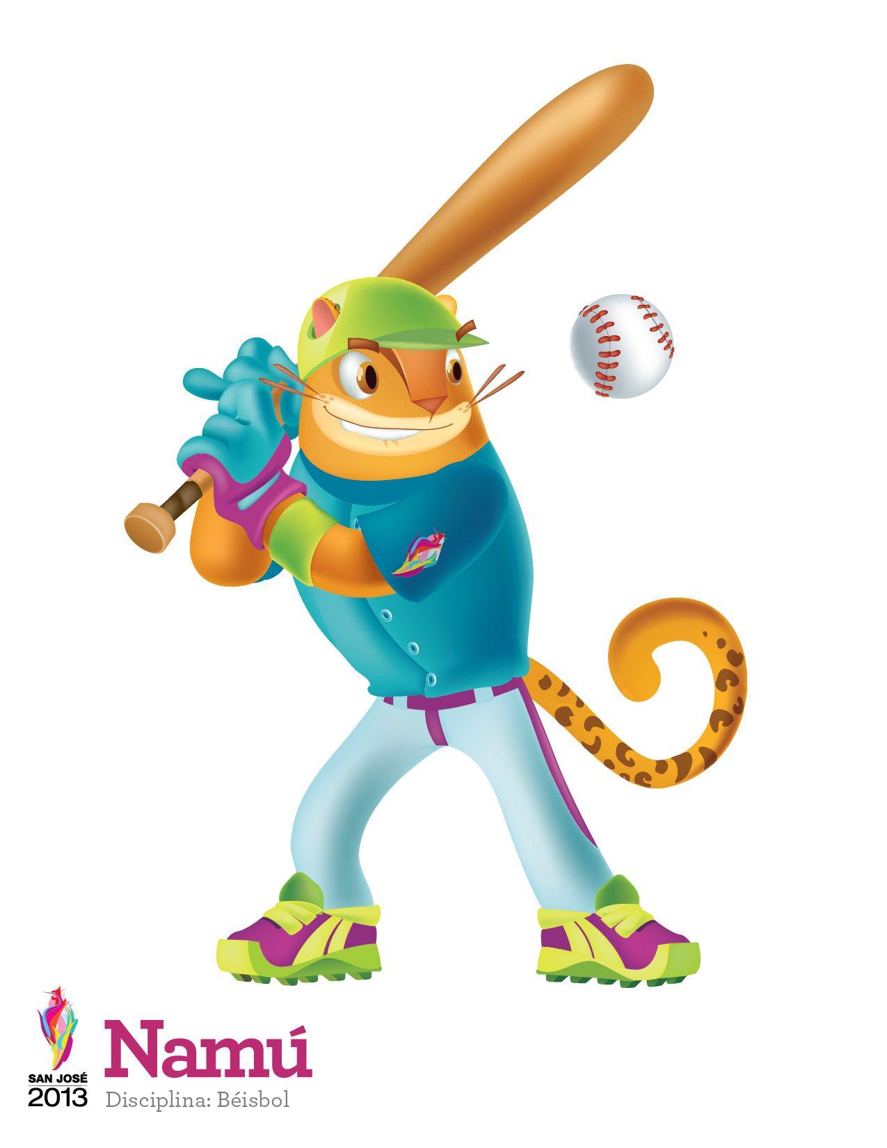 Namu Mascota De Los Juegos Centroamericanos San Jose 2013 O Disciplina Beisbol