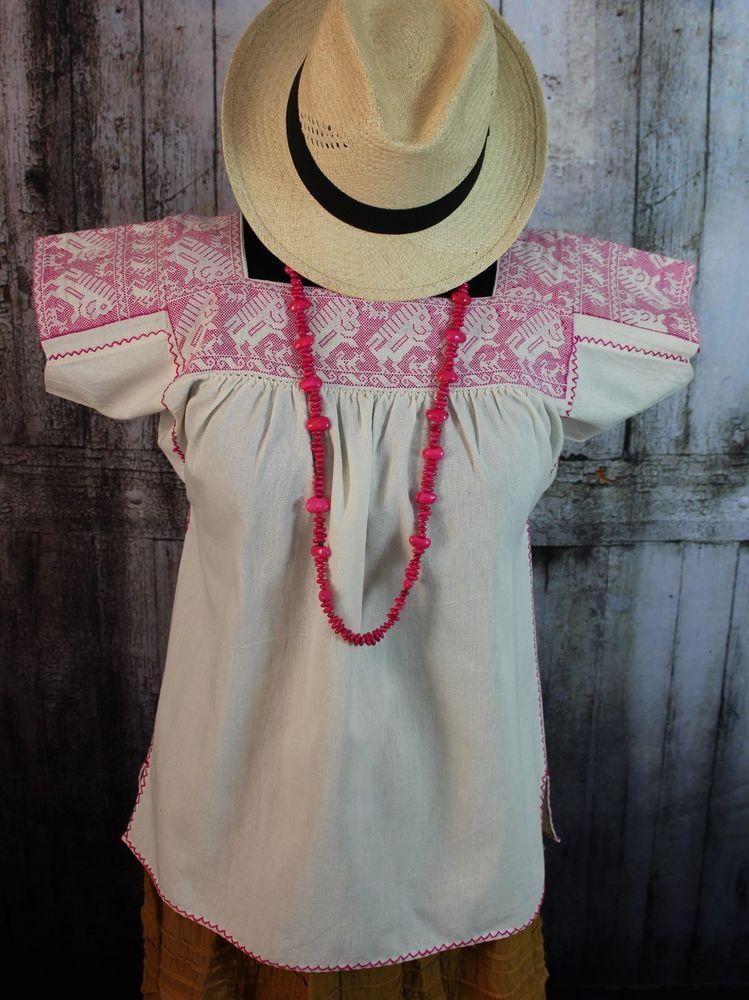 Hand Embroidered Porcupine Traditional Nahua blouse Atla Puebla Mexico Hippie #Handmade #blouse