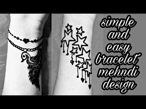 ❤Stylish bracelet mehndi design    simple mehndi design ❤   - YouTube