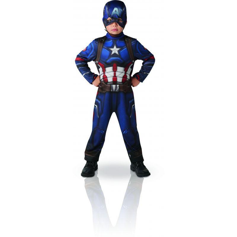 ce dguisement de captain america de civil war comprend une combinaison imprime et un masque il est disponible en taille s ans m ans et l ans - Masque Captain America