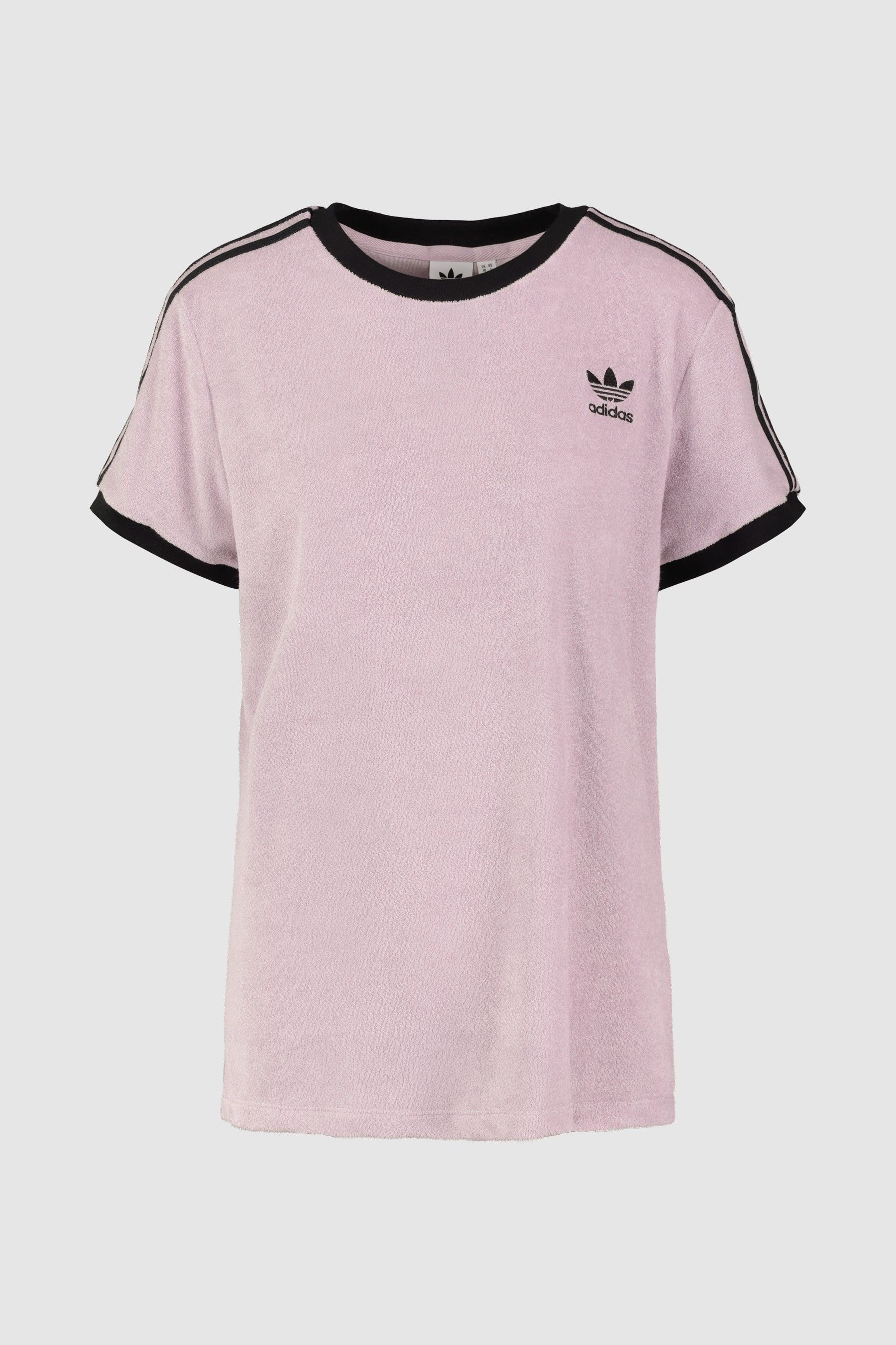 Womens adidas Originals Lilac Soft Vision 3 Stripe Tee