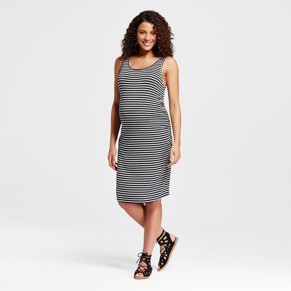 2584f249b9f1b Maternity Body Con Striped Tank Dress Black Xxl - Liz Lange for Target