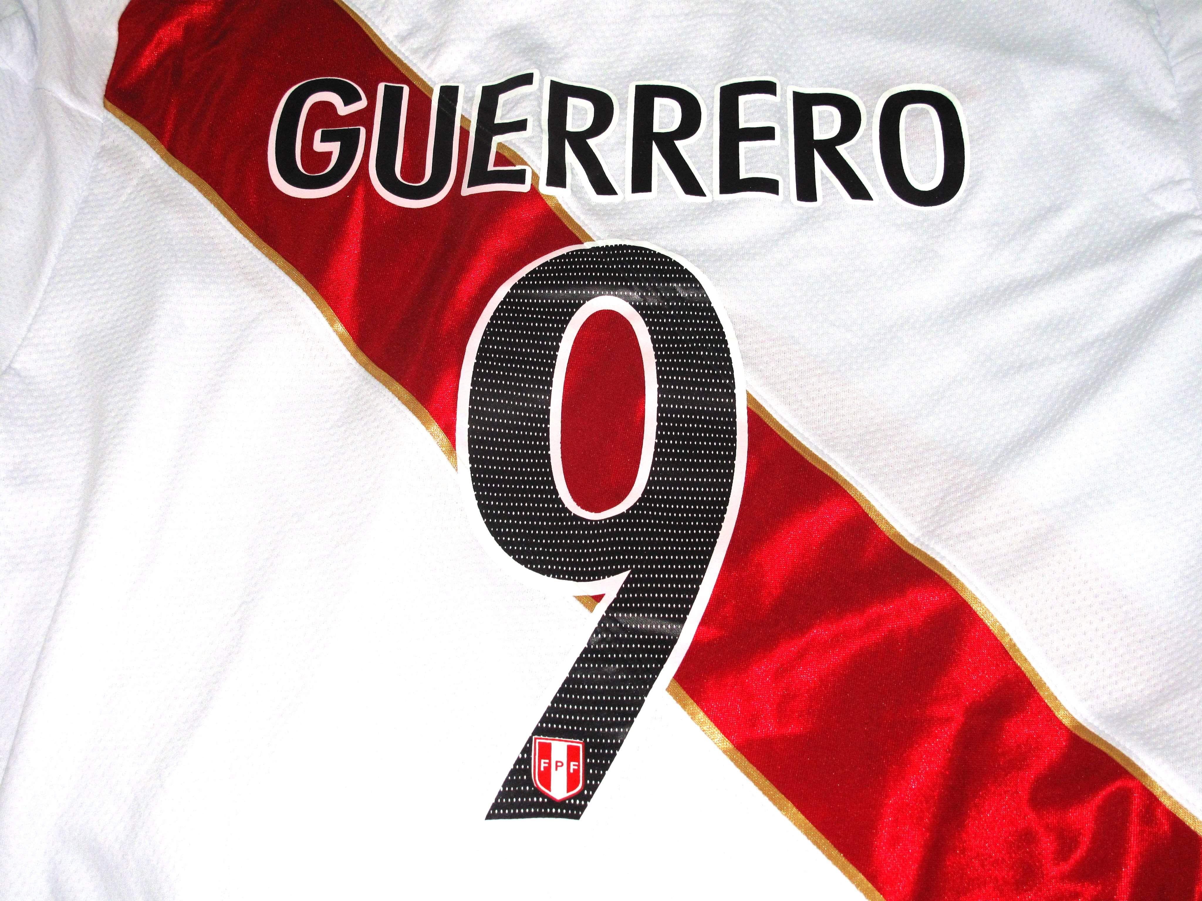 483a6c616 Peru national team soccer jersey world cup russia 2018 guerrero 9 xl ...