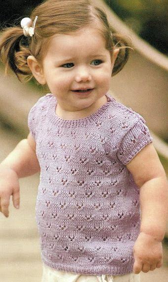 20 modelos para niños pequeños, para tejer con dos agujas ...