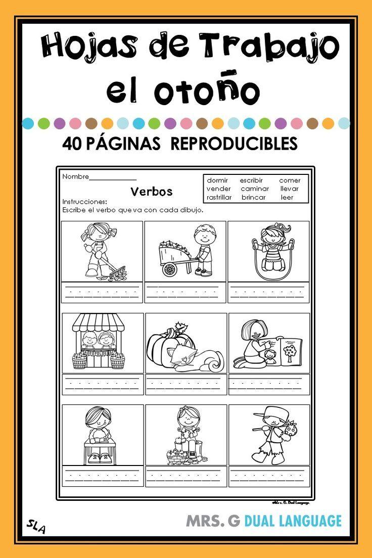 Fall Literacy Packet in Spanish How to speak spanish