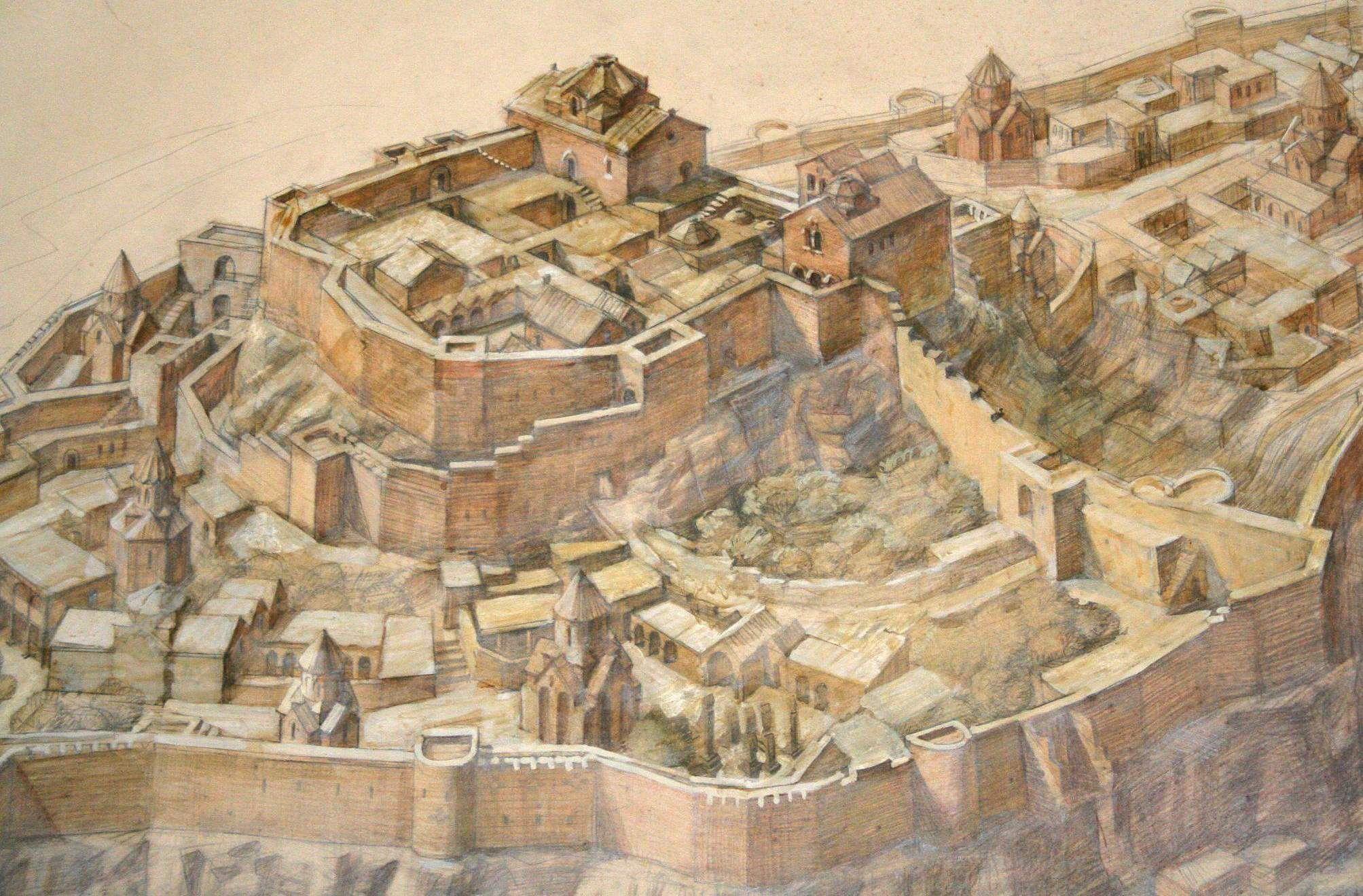 Midjnaberd (the Inner Fortress) 7th Century. Ani, Turkey. Photo Virtual Ani
