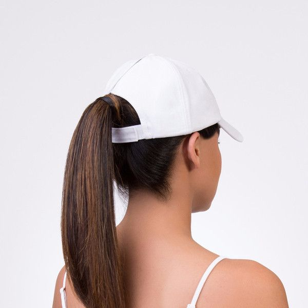 5c5d6e1788da1 Rhinestone Bride   Bridesmaid Baseball Cap - Spony Ponytail Baseball Cap  with a zipper in the back that can be opened. You can wear it open back or  closed ...