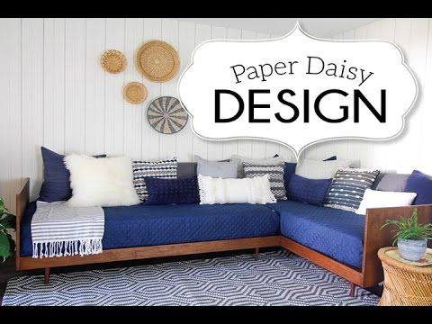 DIY Plywood Mid Century Daybed #PlywoodPretty Challenge - YouTube