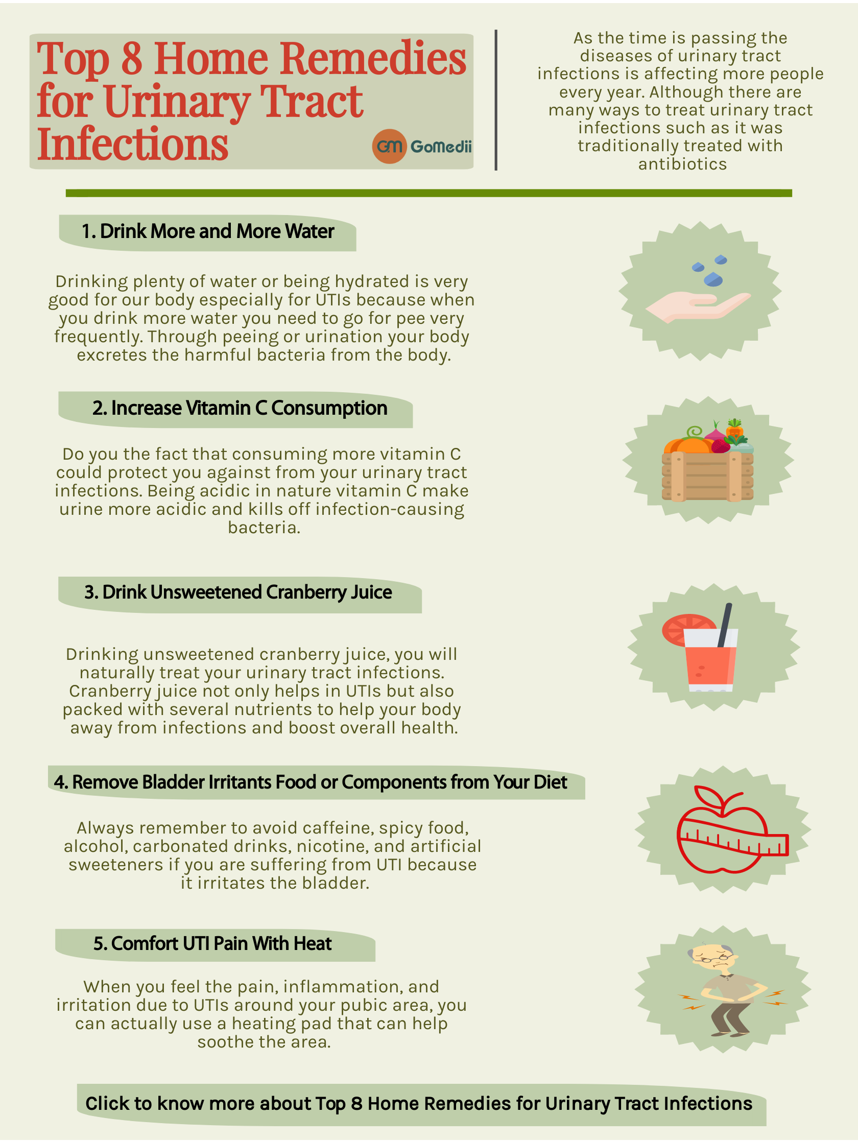 Top 8 Home Remedies For Urinary Tract Infections Gomedii Healthcare Blog Urinary Tract Infection Urinary Tract Home Remedies For Eczema