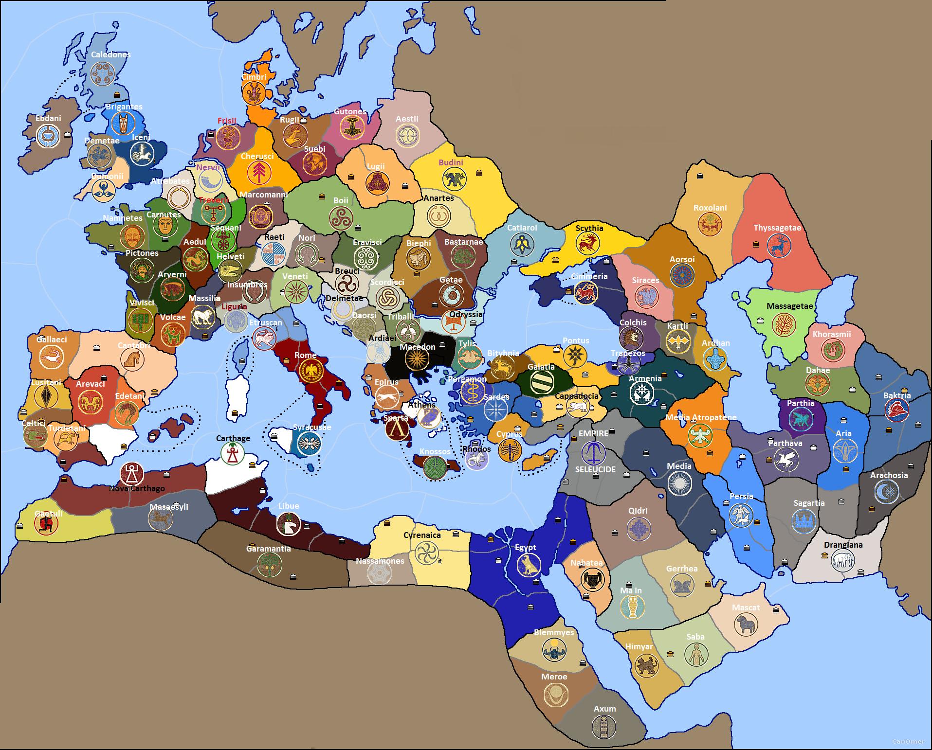 rome total war 2 map - Google Search   Random Pics ...