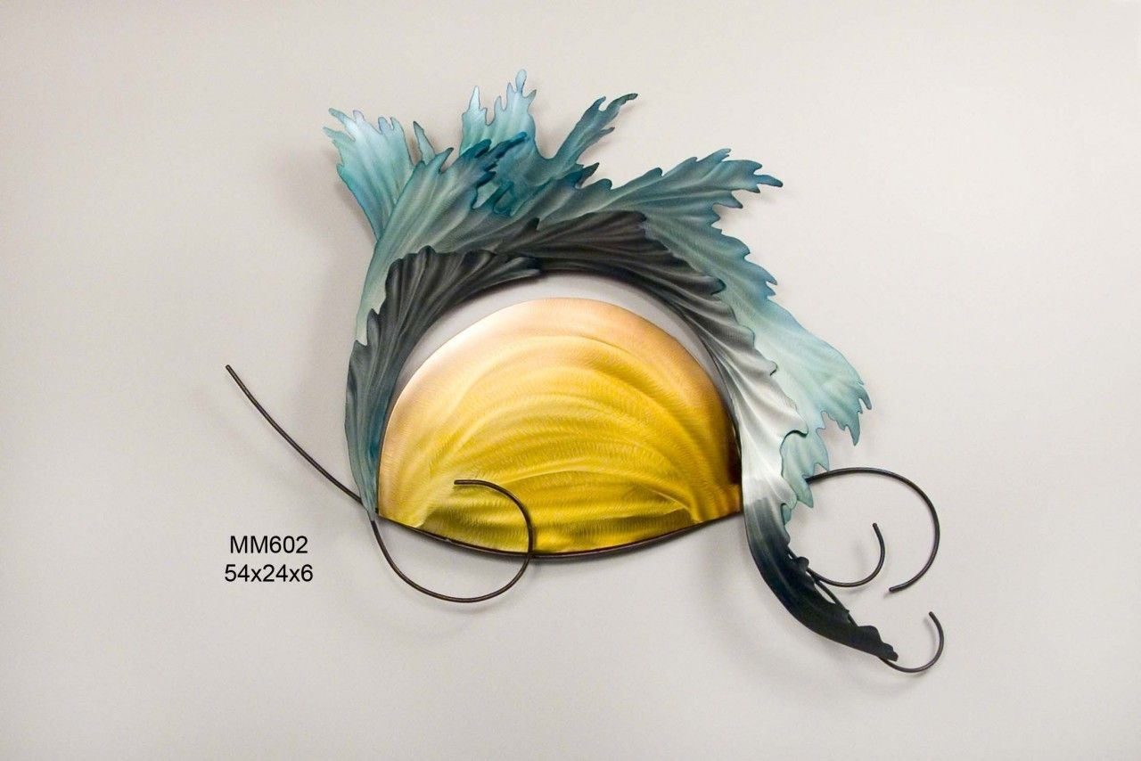 Sunset Waves, Metal Wall Art Sculpture, MM602, Copper art | Metal ...
