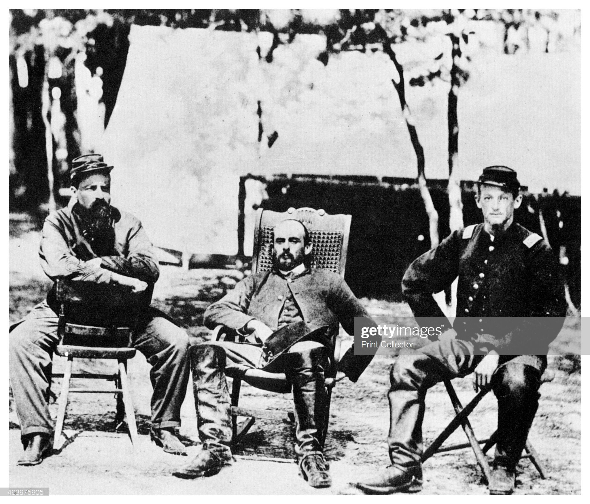 Union Officers Before The Fall Of Petersburg American