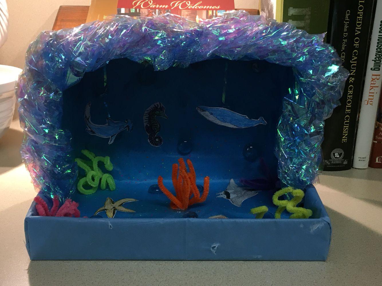 Kids Diorama With Details: Ocean Diorama, Diorama Kids