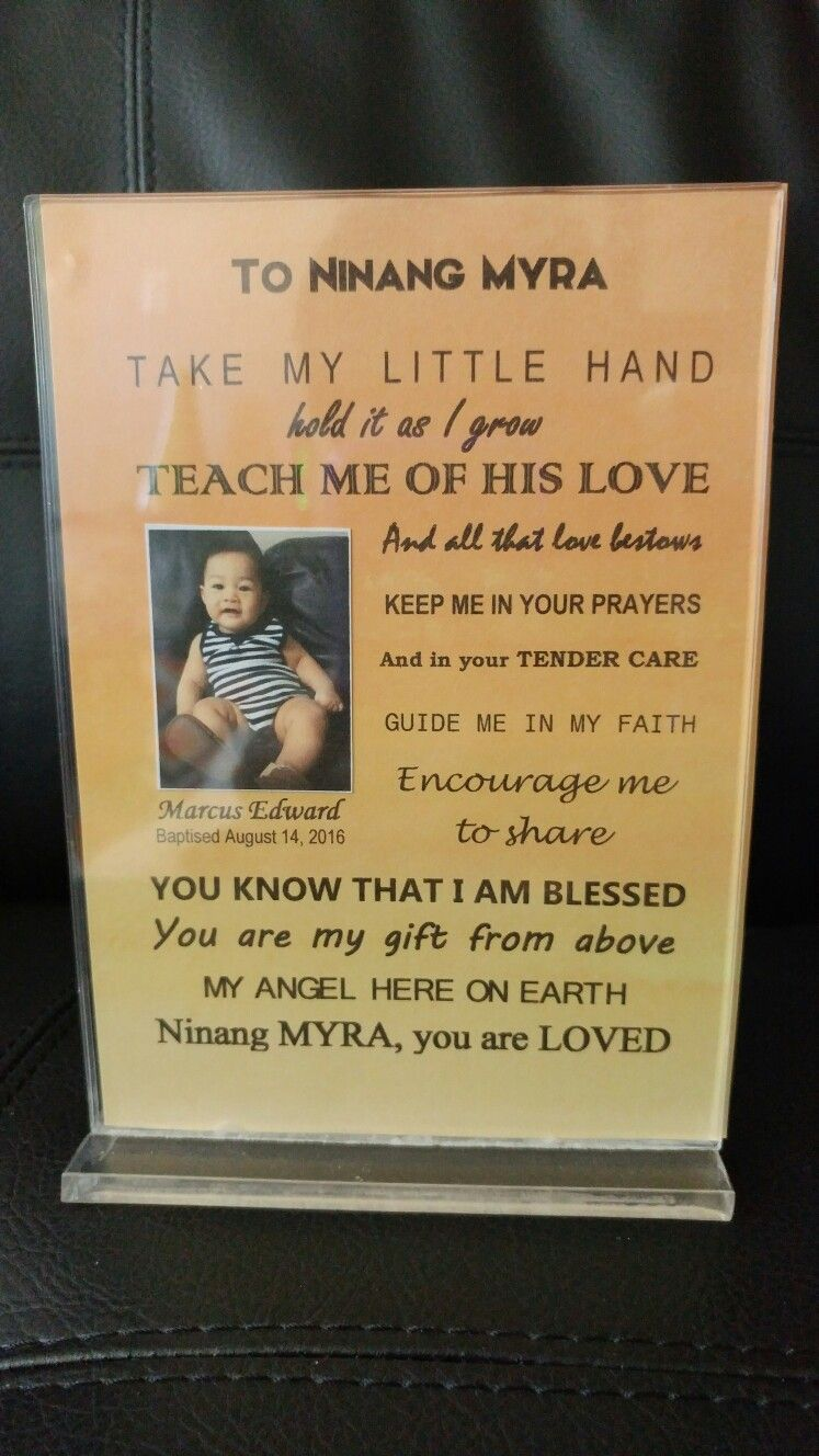 Thank You Message For Godparents Birthday And Baptismal Ideas