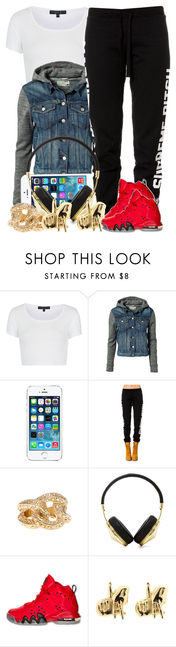 """""""3 17 14"""" by miizz-starburst ❤ liked on Polyvore featuring Topshop, rag & bone, Married to the Mob, Frends, NIKE and Han Cholo"""