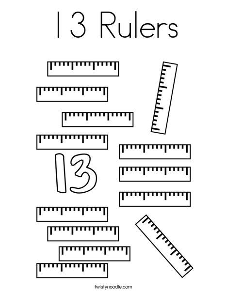 13 Rulers Coloring Page Twisty Noodle Coloring Pages