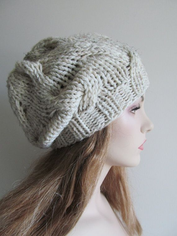 PDF Instant Download Knitting Pattern Cabled Chunky ...