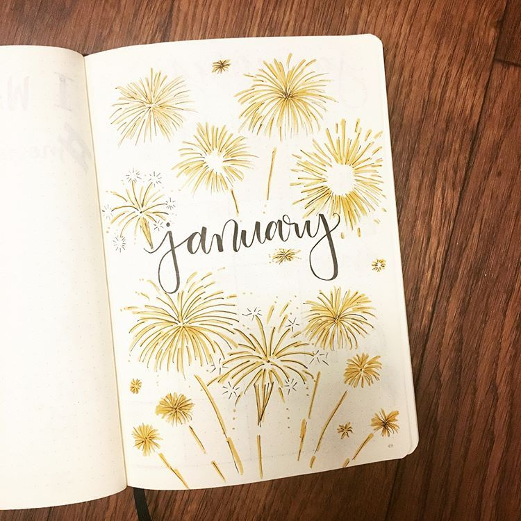 "����� ���� on Instagram: ""who's ready for the new year??�thanks again to @amandarachdoodles for the theme���#bulletjournal #bujo #january #newyear…"""