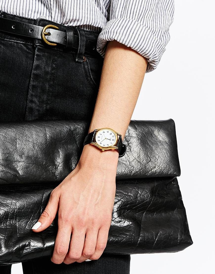 Image 3 Of Casio Mtp 1154pq 7bef Textured Black Leather Watch Ltp 1378l 2e Women Quartz Blue