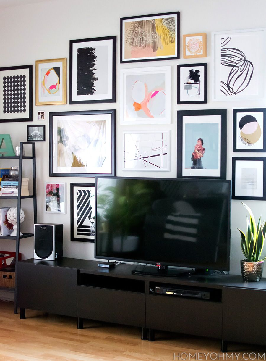 How To Plan And Hang A Gallery Wall Gallery Wall TVs And Walls - Art gallery wall