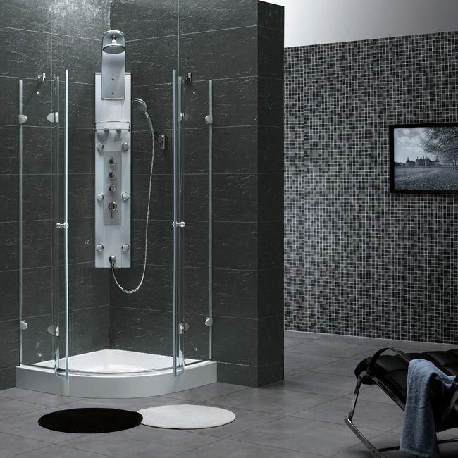 Superior VIGO 40 X 40 Neo Round Shower Enclosure VG6021CHCL40