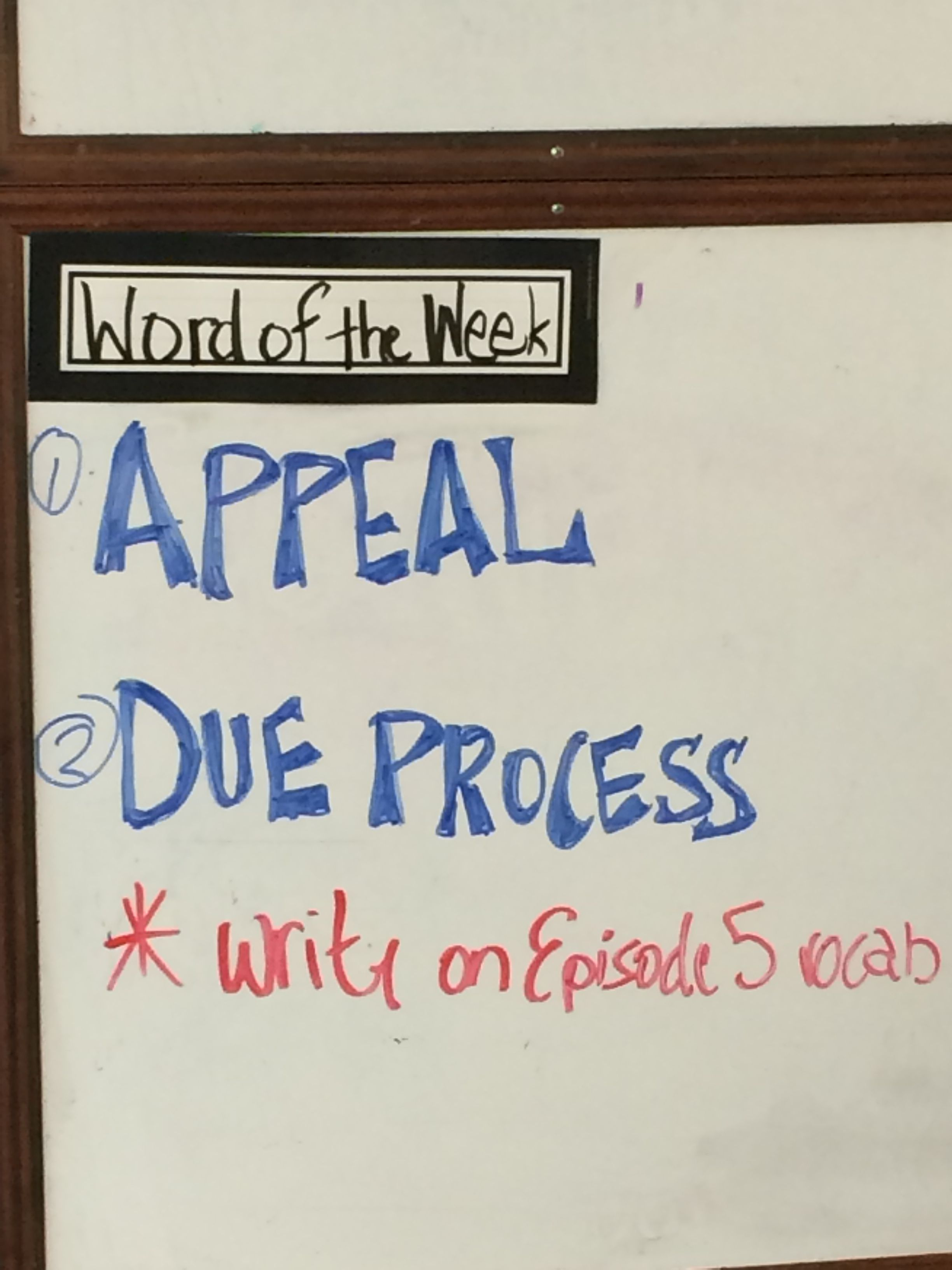 "Every Monday there are new ""Words of the Week"" which is"