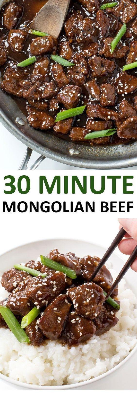 30 Minute Mongolian Beef  #beefsteakrecipe