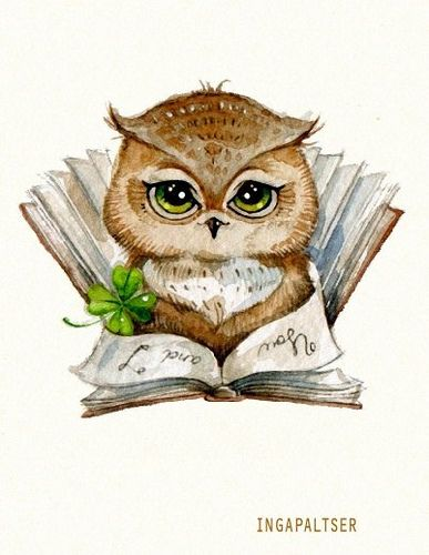 Painted owl by Inga Paltser | Flickr - Photo Sharing!