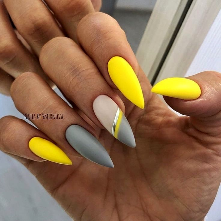 30 Nails Designs Inspirations In 2020 Yellow Nails Design Yellow Nails Yellow Nail Art