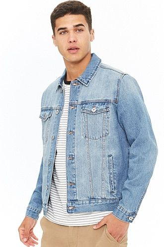 499d5d026b Classic Denim Jacket. Classic Denim Jacket | Forever 21 Coloured Denim  Jacket, Denim Jacket Men ...
