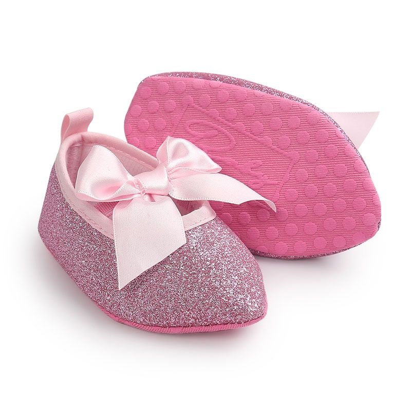92703fe3d5ddb0 Click to Buy    ROMIRUS Bling Bling New Brand Soft Soled Baby Kids Girls  Princess Bow Party Crib Babe Soft Soled Prewalker Mary Jane Shoes  Affiliate