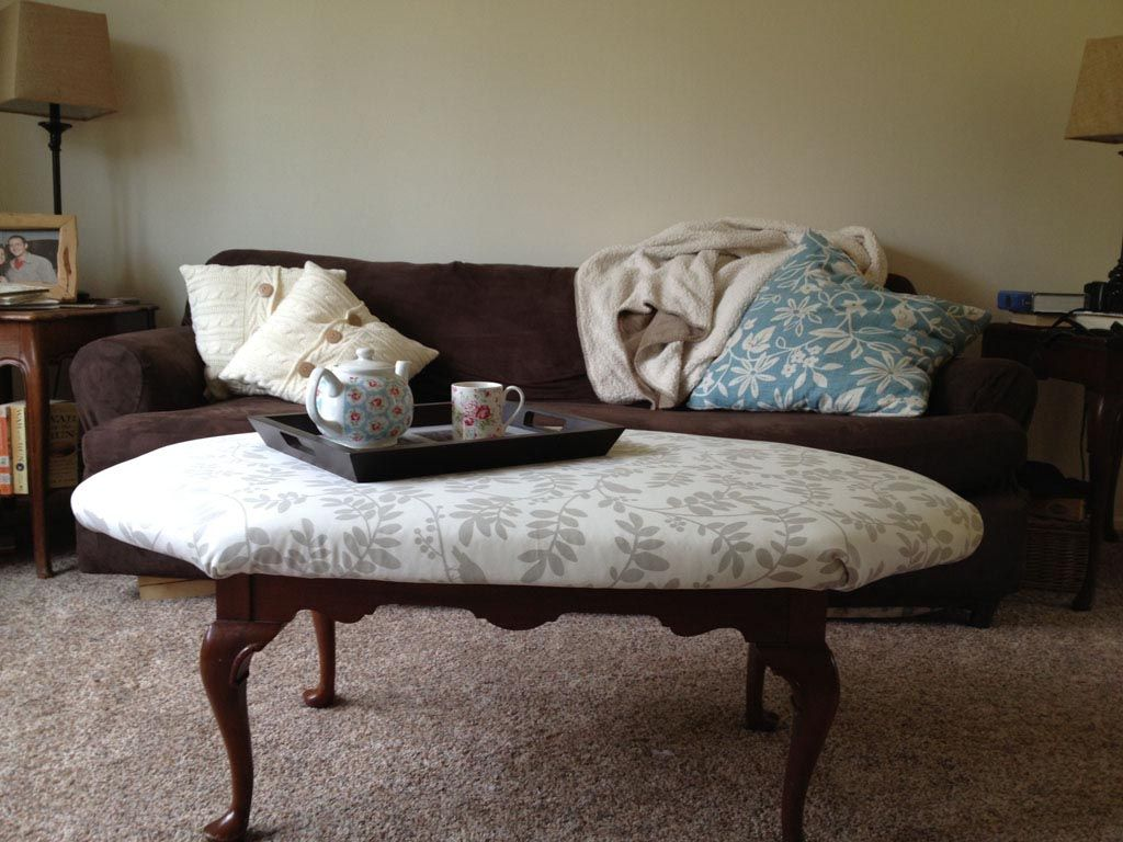 Upholstered Coffee Table DIY. Upholstered Coffee Table DIY Fabric ...