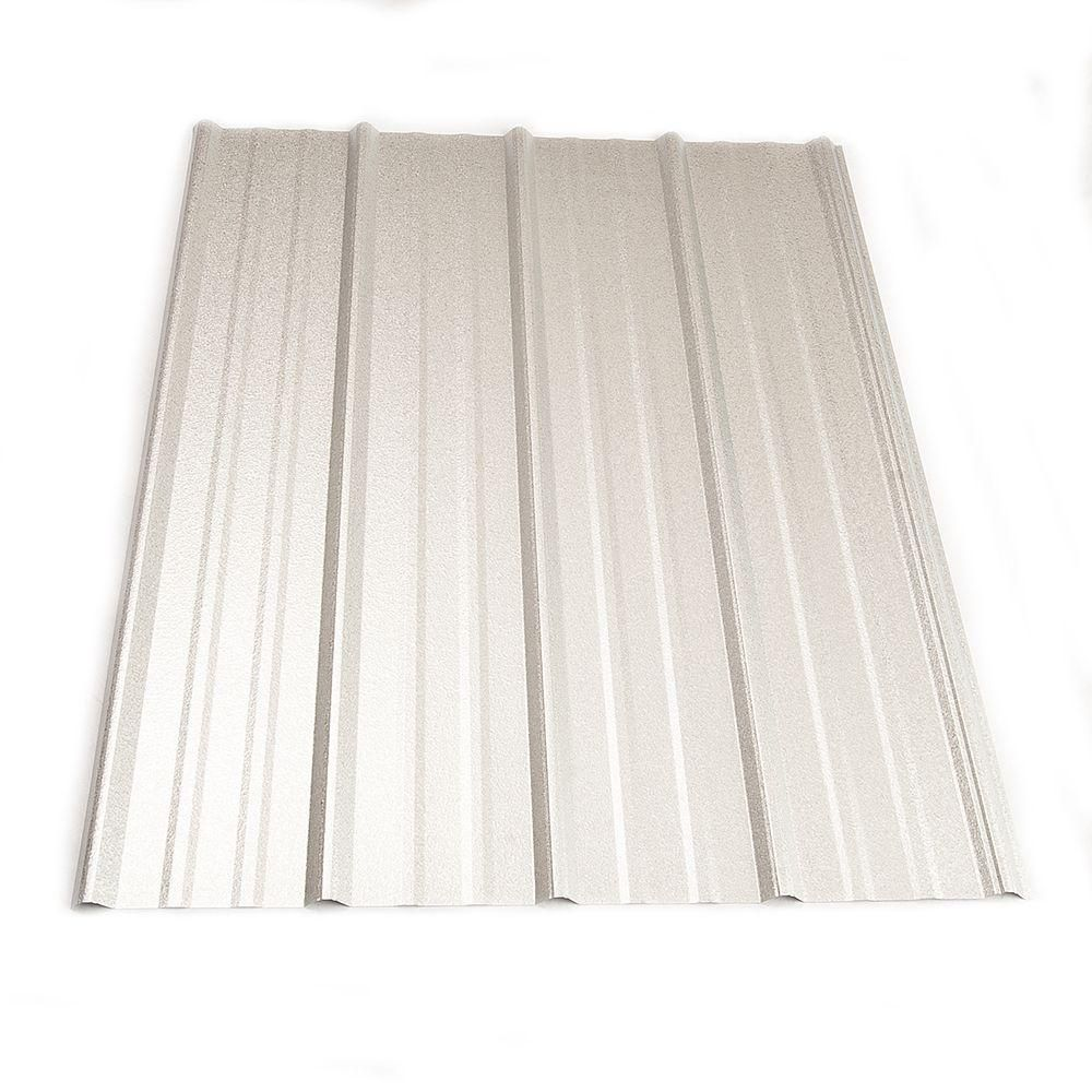 Metal Sales 8 Ft Classic Rib Steel Roof Panel In Galvalume 2313241 The Home Depot Steel Roof Panels Roof Panels Galvalume Roof