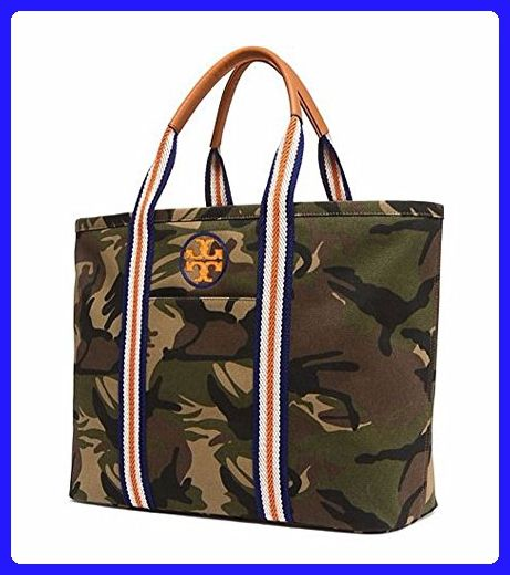 63195710e9 Tory Burch Embroidered T large Canvas Tote (Camo) - Totes (*Amazon  Partner-Link)