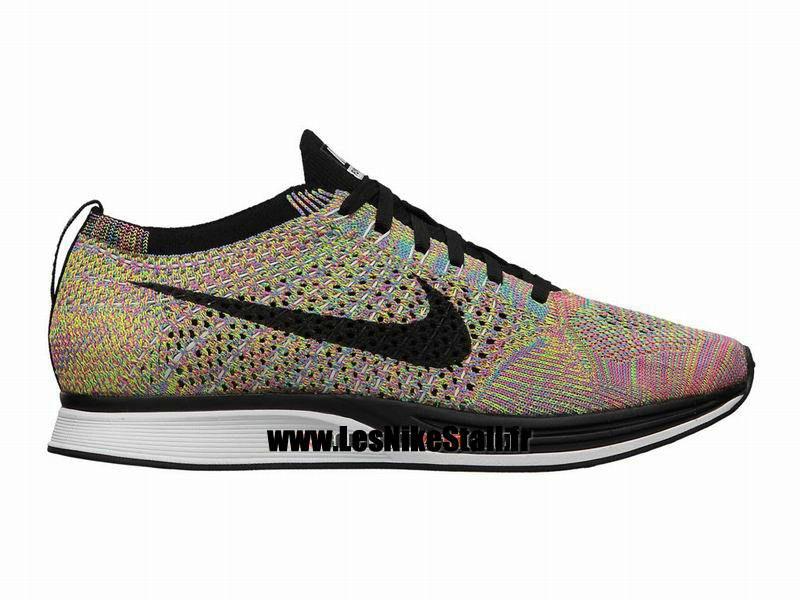 best loved 46f35 15ded Officiel Nike Flyknit Racer Chaussure de Running Nike Mixte Pas Cher Pour  Homme Noir Bleu