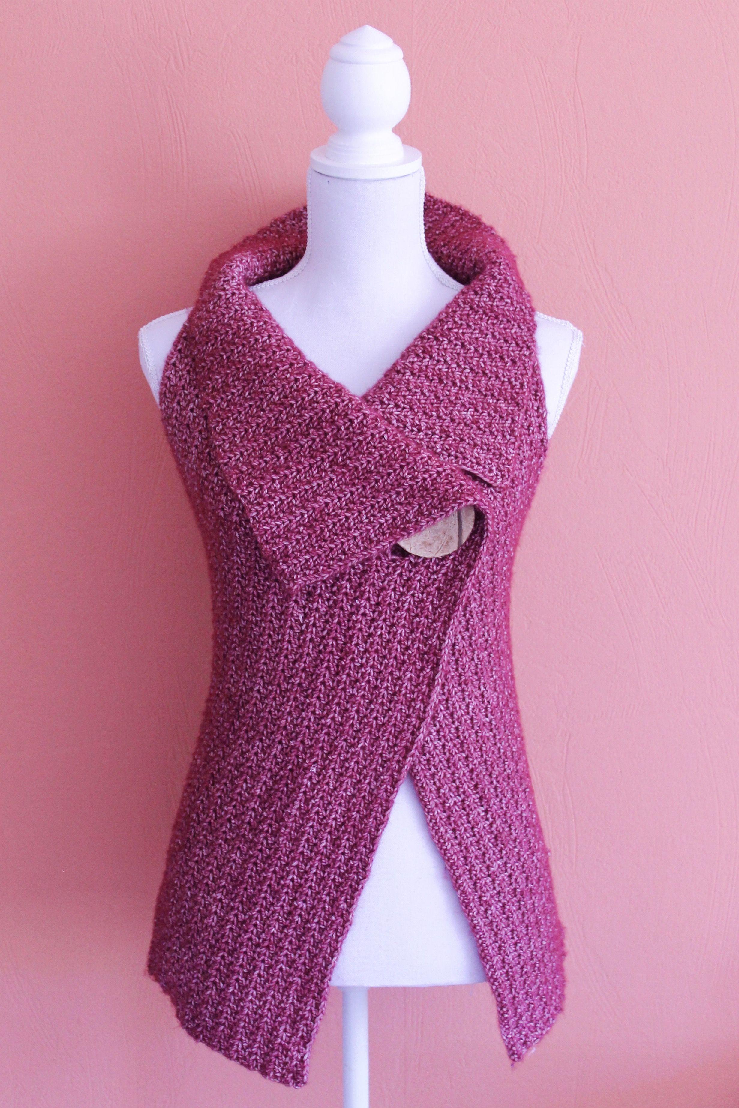 Peek-a-Boo Button Wrap Pattern Size S-XL | chal | Pinterest ...