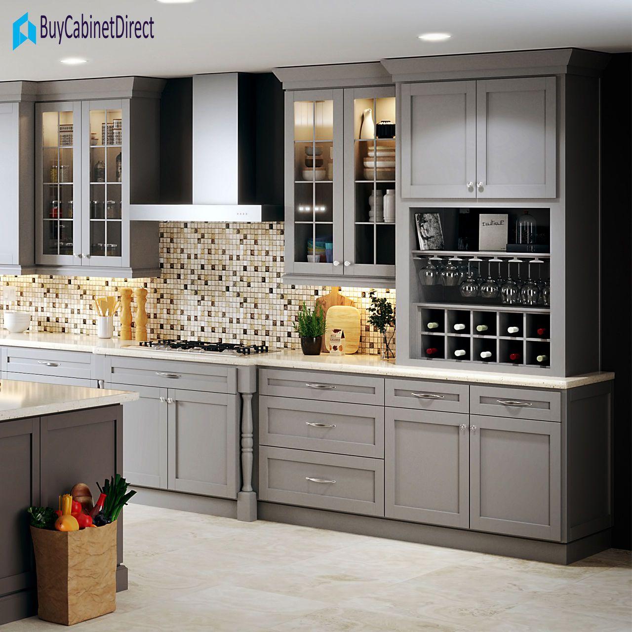 All Wood 10x10 Custom Kitchen Cabinets Lidingo Grey Shaker ...