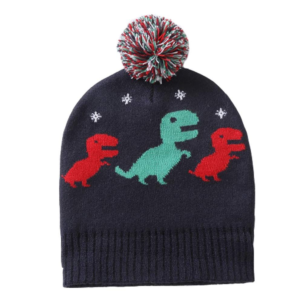 cf9a1410b Exemaba Baby Boys Winter Knit Hat Infant Soft Warm Knitted Beanie ...