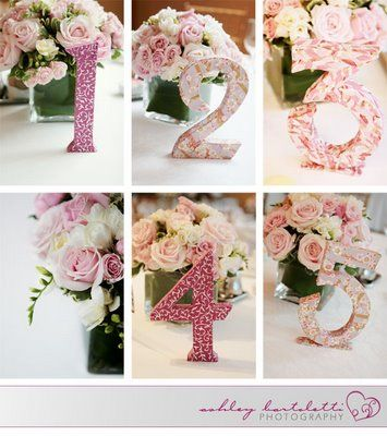Decoupage Table Numbers I Saw This Giant Cardboard At Michaels Craft Store Wedding NumbersWedding TablesDiy