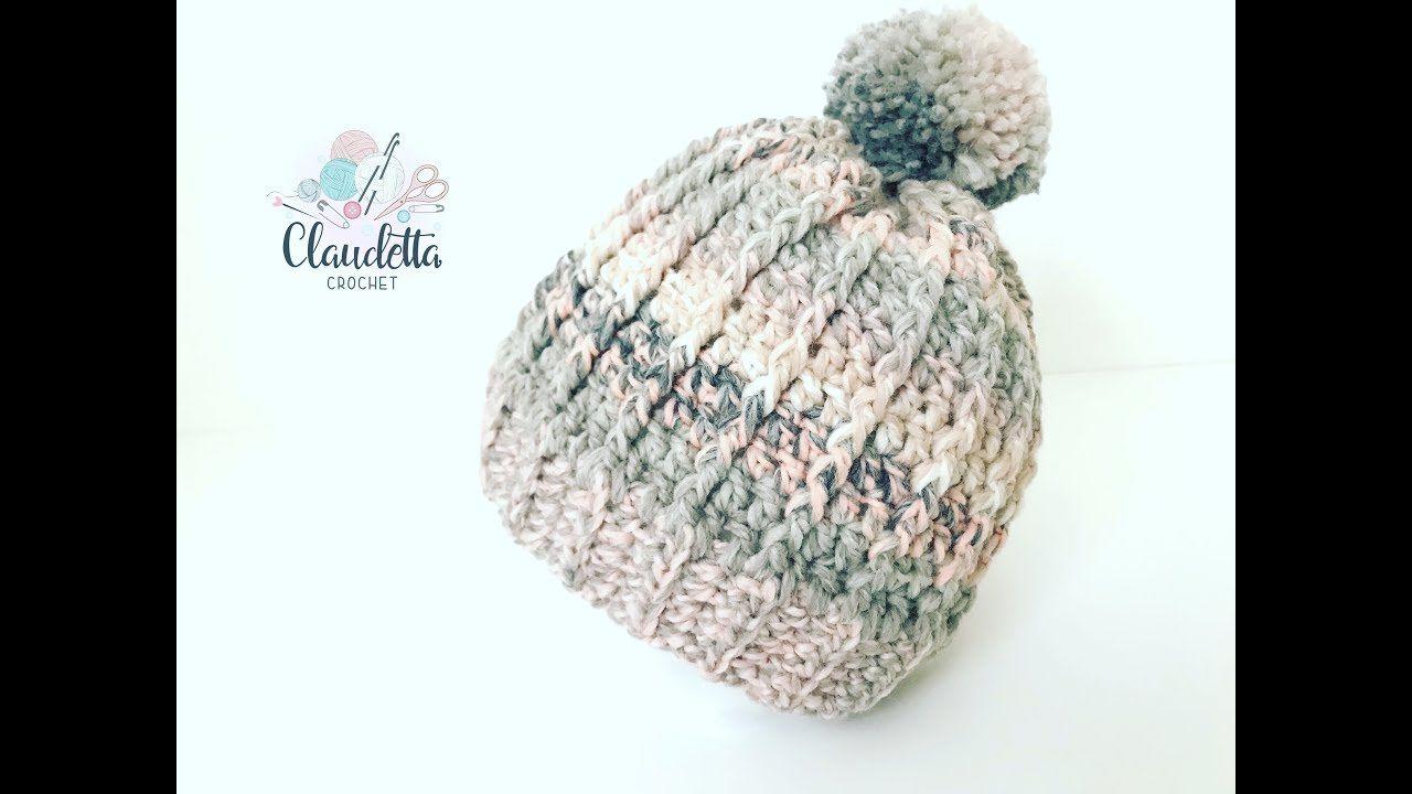 How To Crochet Easy Ripple Hat Beginner Youtube Hkovan