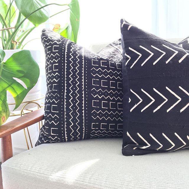 mudcloth pillows FTW!