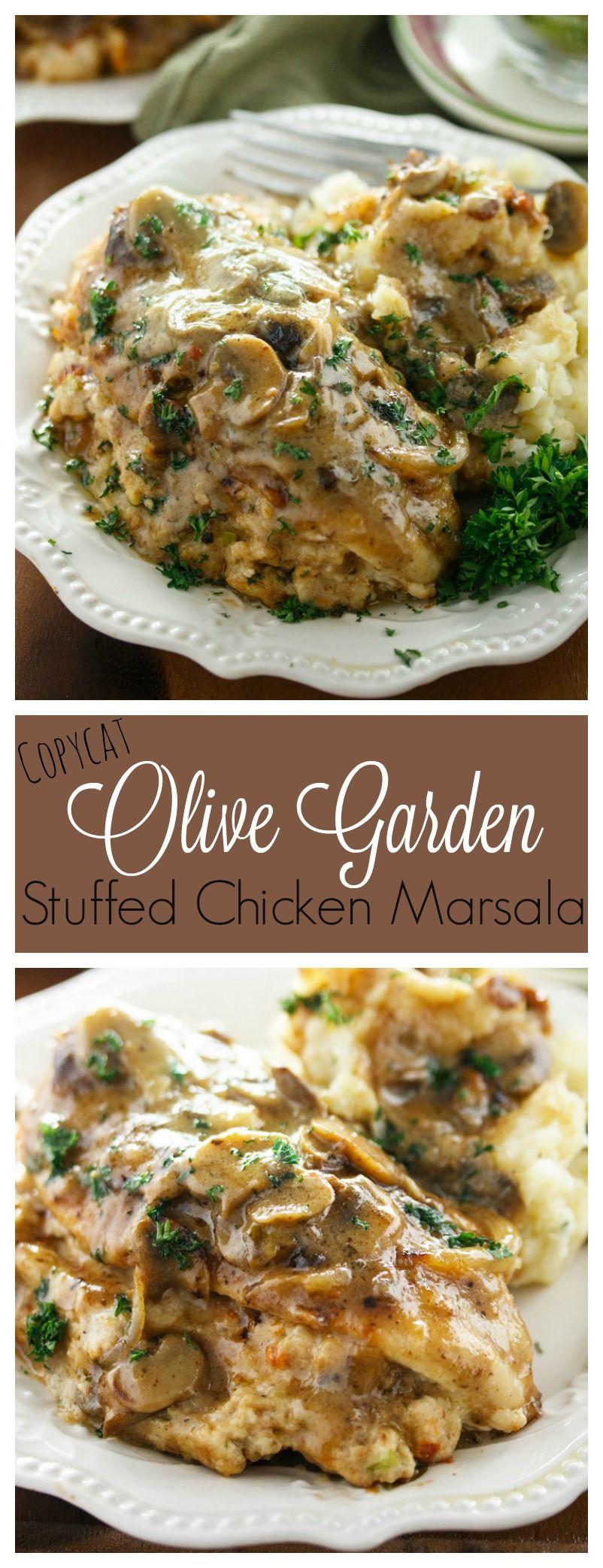 Copycat Olive Garden Stuffed Chicken Marsala Recipe Stuffed Chicken Marsala Chicken Marsala