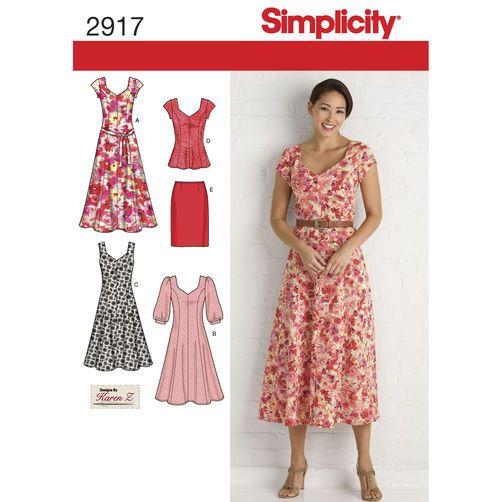 Simplicity Pattern 2917 Misses\' & Plus Size Dresses | Patterns I ...