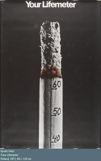 BOBBY This is a visual metaphor for a anti-smoking ad. The image depicts a burning cigarette, which has meter markings on it. The meter on the cigarette symbolizes our lifemeter, and that by lighting up the cigarette, it burns away our life. Global Warming Poster, Culture Jamming, Clever Advertising, Visual Metaphor, Anti Smoking, Great Ads, Consumerism, Guerrilla, Creative Thinking